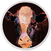 Jemima The Cow Round Beach Towel