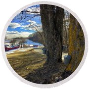 Jenne Farm Maple Sugaring Round Beach Towel