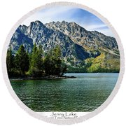 Jenny Lake Round Beach Towel by Greg Norrell