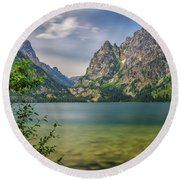 Jenny Lake In The Grand Tetons Round Beach Towel