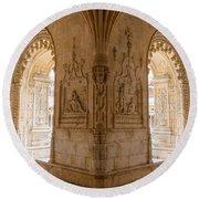 Jeronimos Monastery, Belem - Lisbon Round Beach Towel