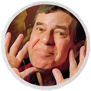 Jerry Lewis Round Beach Towel