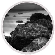 Jersey Shore At Night Round Beach Towel by Paul Ward