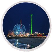 Jersey Shore Round Beach Towel