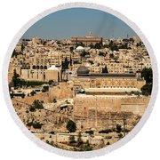 Round Beach Towel featuring the photograph Jerusalem by Mae Wertz
