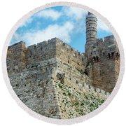 Jerusalem Old City 2 Round Beach Towel