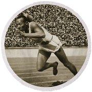 Jesse Owens Round Beach Towel by American School