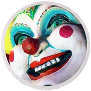 Jester Always Smiles In New Orleans Round Beach Towel