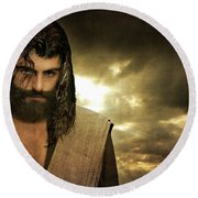 Jesus Christ- Will You Hear Me Shout Come Up Round Beach Towel