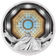 Jesus Halo Round Beach Towel