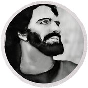 Jesus Round Beach Towel by Pennie  McCracken