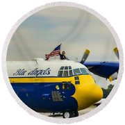 Jet Assisted C-130 Round Beach Towel