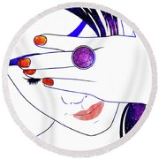Jewel II Round Beach Towel