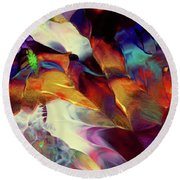 Jewel Island Round Beach Towel