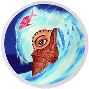 Jewel Of Shell Round Beach Towel