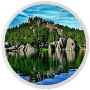 Jewel Of The Black Hills Round Beach Towel
