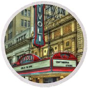 Jewel Of The South Tivoli Chattanooga Historic Theater Round Beach Towel by Reid Callaway
