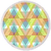 Jeweled Round Beach Towel by SharaLee Art