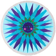 Jeweled Sun Round Beach Towel