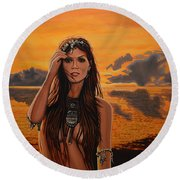 Jewels Of Costa Rica Round Beach Towel