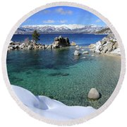 Jewels Of Winter Round Beach Towel