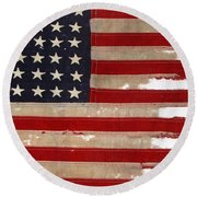 Jfk's Pt-109 Flag Round Beach Towel