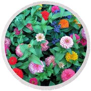 Jigsaw Puzzle? Round Beach Towel by Betty Buller Whitehead