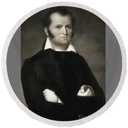 Jim Bowie - The Alamo Round Beach Towel