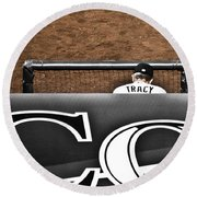 Jim Tracy Rockies Manager Round Beach Towel
