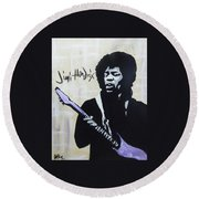 Jimi Gretness Round Beach Towel