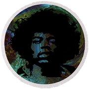 Acid Graphic Jimi Hendrix Round Beach Towel