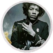 Jimi Hendrix, Fender Guitar Round Beach Towel