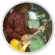 Jimmy Page-0002 Round Beach Towel