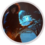Jimmy Page-0010 Round Beach Towel