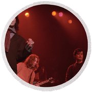 Jimmy Page And The Black Crowes Round Beach Towel