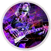 Jimmy Page Solos Round Beach Towel