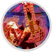 Jimmy Page Stairway To Heaven Round Beach Towel