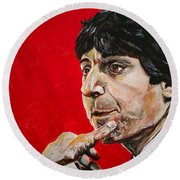 Jimmy V Round Beach Towel