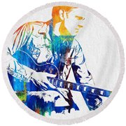 Joe Bonamassa Round Beach Towel by Dan Sproul