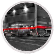 Joe Louis Arena Detroit Mi Round Beach Towel by Nicholas  Grunas