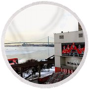 Joe Louis Arena Round Beach Towel by Michael Rucker