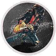 Joe Perry Round Beach Towel