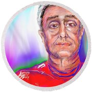 Joe Self Portiture  Round Beach Towel
