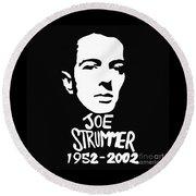 Joe Strummer Round Beach Towel