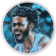 Joel Berry II Round Beach Towel
