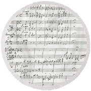 Johannes Brahms 's Double Concerto In A Minor Round Beach Towel