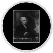 John Adams Second Potus Round Beach Towel by Richard W Linford