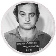 John Belushi Mug Shot For Film Vertical Round Beach Towel