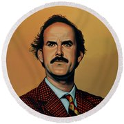 John Cleese Round Beach Towel by Paul Meijering