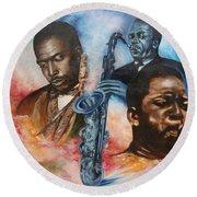 Blaa Kattproduksjoner     John Coltrane - Jazzed  Round Beach Towel